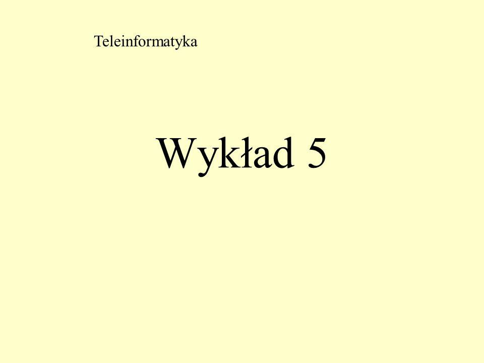 Wykład 5 Teleinformatyka