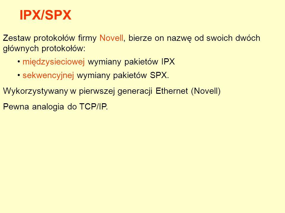 Zestaw protokołów firmy Novell, bierze on nazwę od swoich dwóch głównych protokołów: międzysieciowej wymiany pakietów IPX sekwencyjnej wymiany pakietó