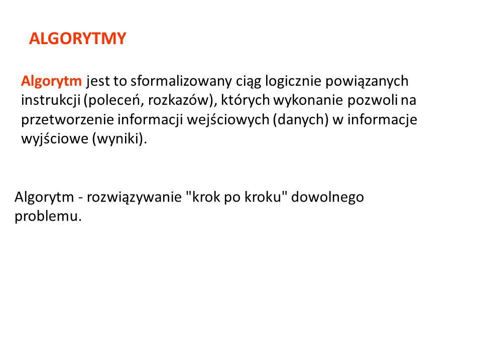 Instrukcje języka oddzielamy średnikami (jeśli zapisujemy w tym samym wierszu).