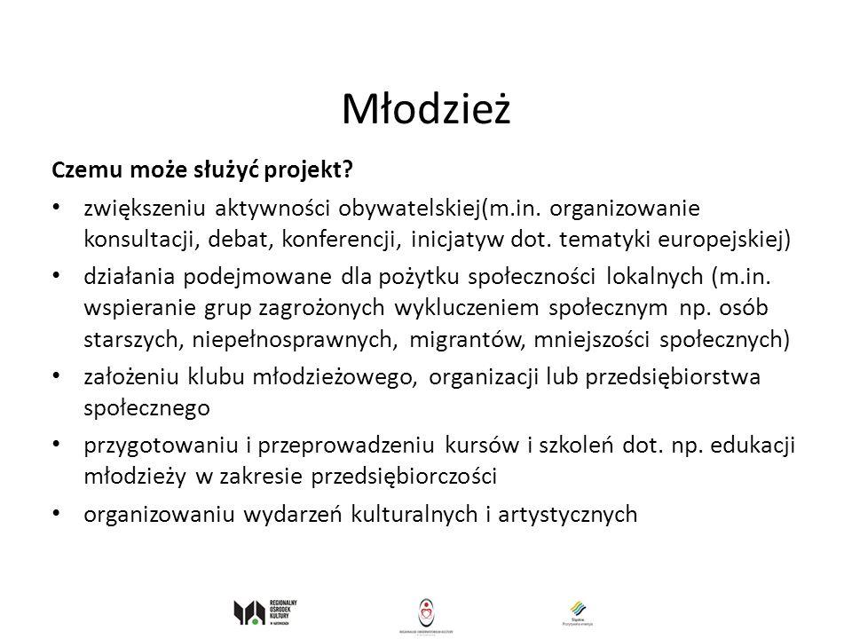 Młodzież Czemu może służyć projekt? zwiększeniu aktywności obywatelskiej(m.in. organizowanie konsultacji, debat, konferencji, inicjatyw dot. tematyki