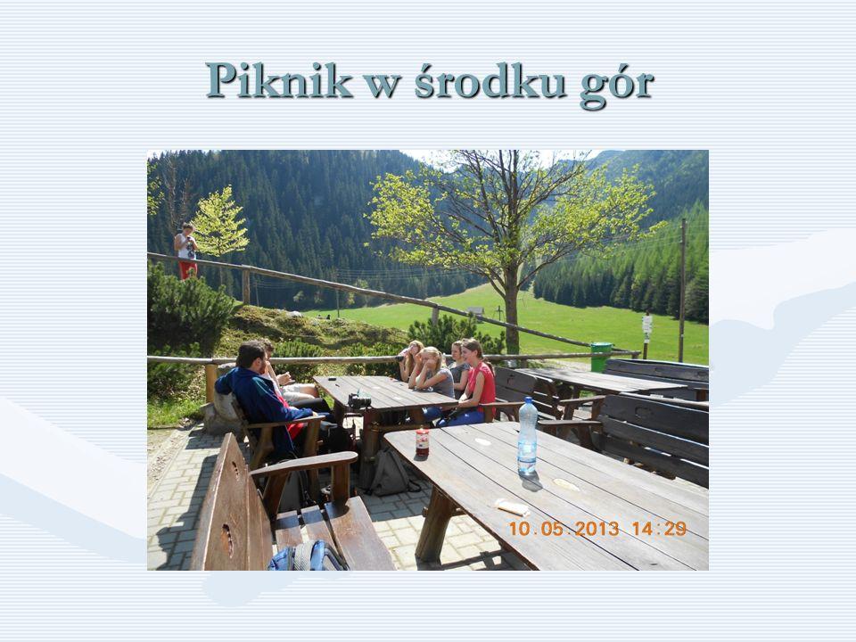 Piknik w środku gór
