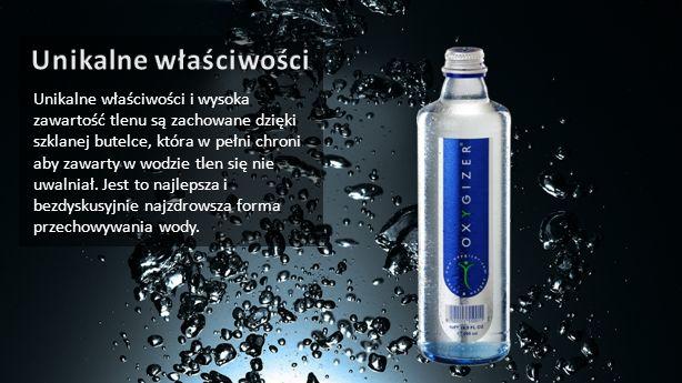 Unikalne właściwości i wysoka zawartość tlenu są zachowane dzięki szklanej butelce, która w pełni chroni aby zawarty w wodzie tlen się nie uwalniał. J