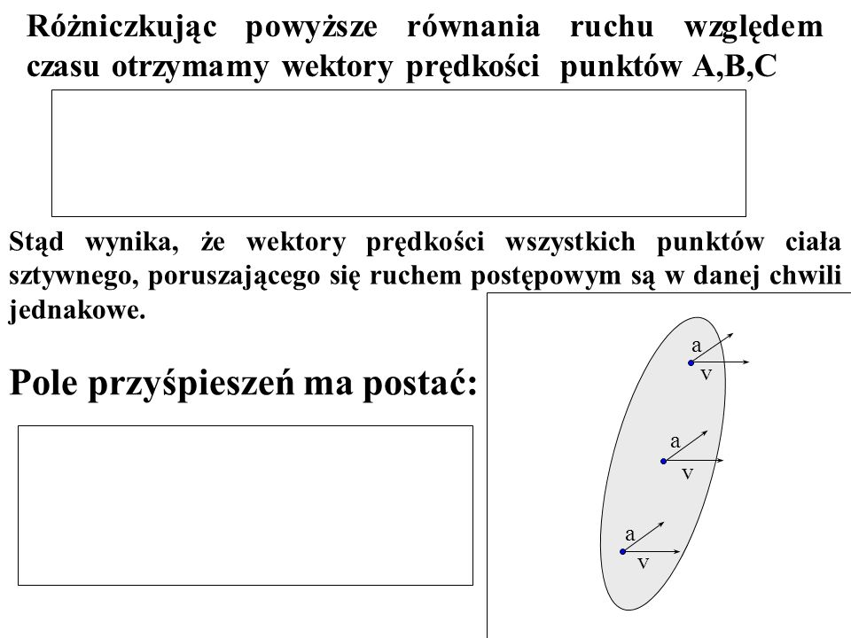 Rozwiązanie Prędkości liniowe punktów leżących na obwodach obydwu kół wynoszą: Prędkości liniowe punktów styczności obu kół muszą być sobie równe Po podstawieniu stąd