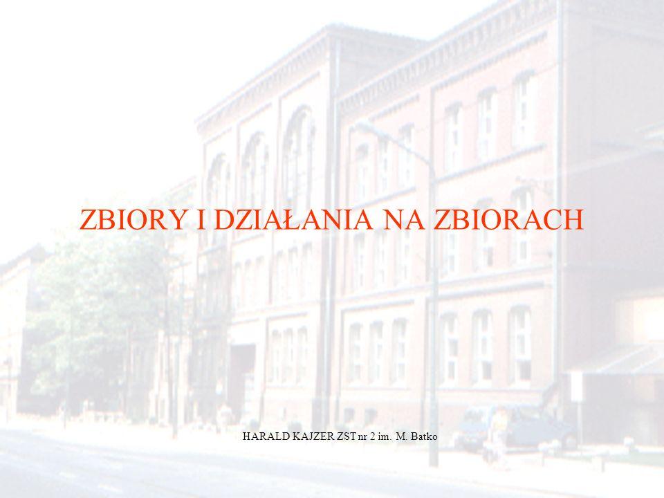 HARALD KAJZER ZST nr 2 im. M. Batko ZBIORY I DZIAŁANIA NA ZBIORACH HARALD KAJZER ZST nr 2 im. M. Batko
