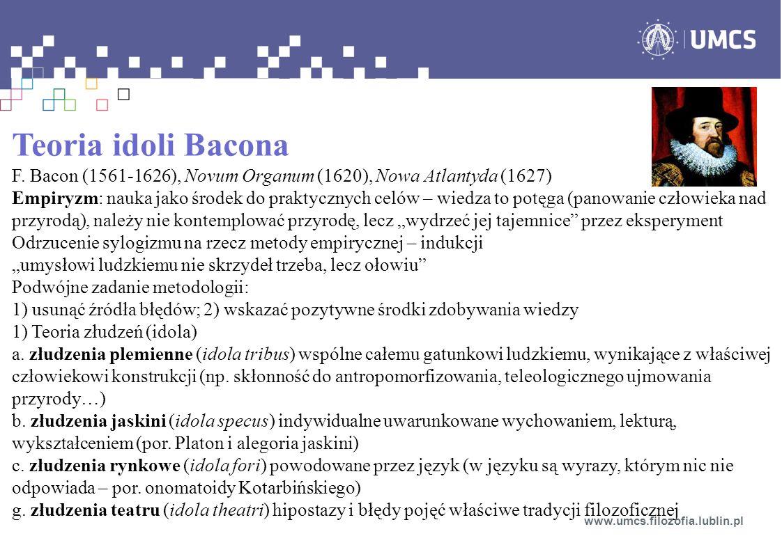 Teoria idoli Bacona F.
