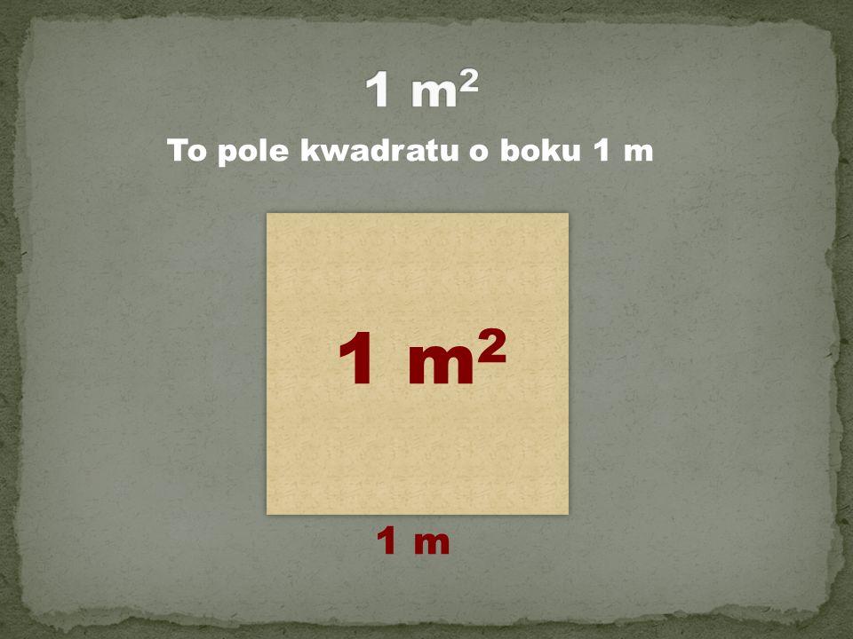 To pole kwadratu o boku 1 m 1 m 2 1 m