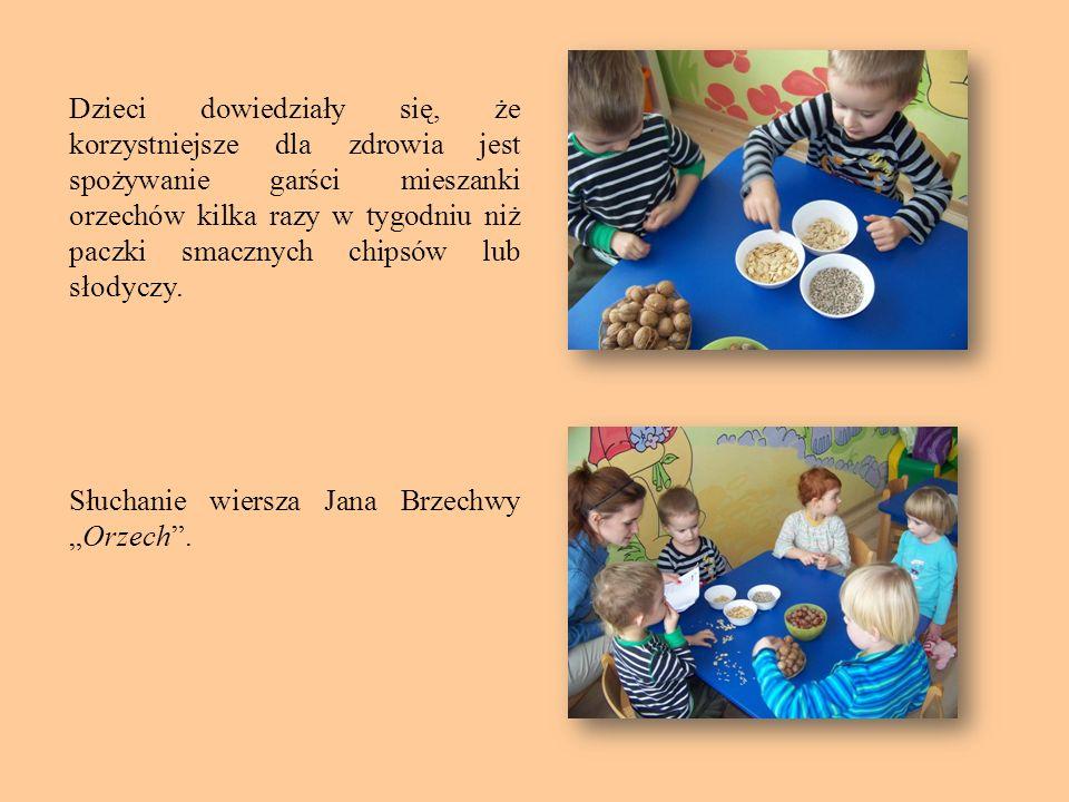 Dzieci dowiedziały się, że korzystniejsze dla zdrowia jest spożywanie garści mieszanki orzechów kilka razy w tygodniu niż paczki smacznych chipsów lub