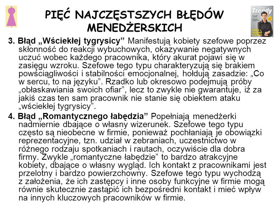 PIĘĆ NAJCZĘSTSZYCH BŁĘDÓW MENEDŻERSKICH 3.