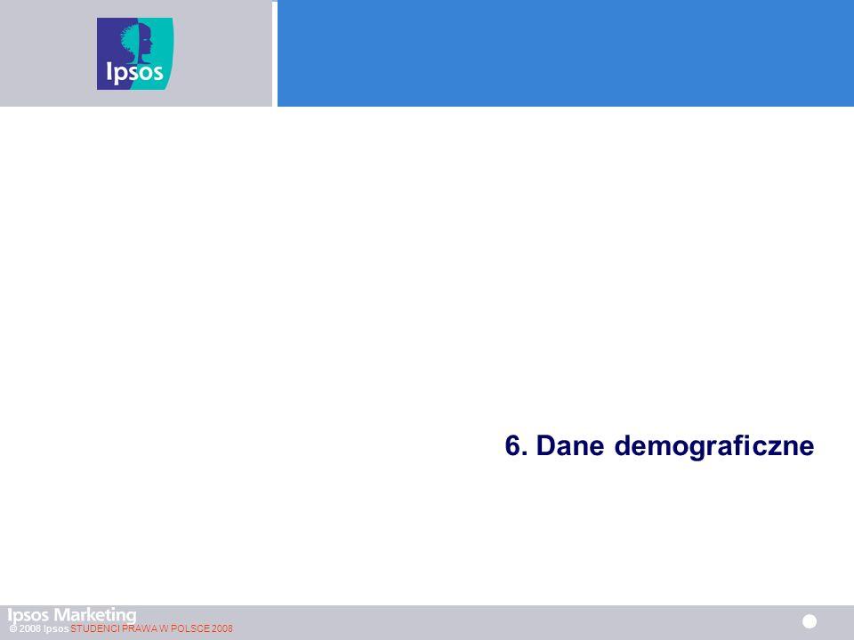 © 2008 Ipsos STUDENCI PRAWA W POLSCE 2008 6. Dane demograficzne