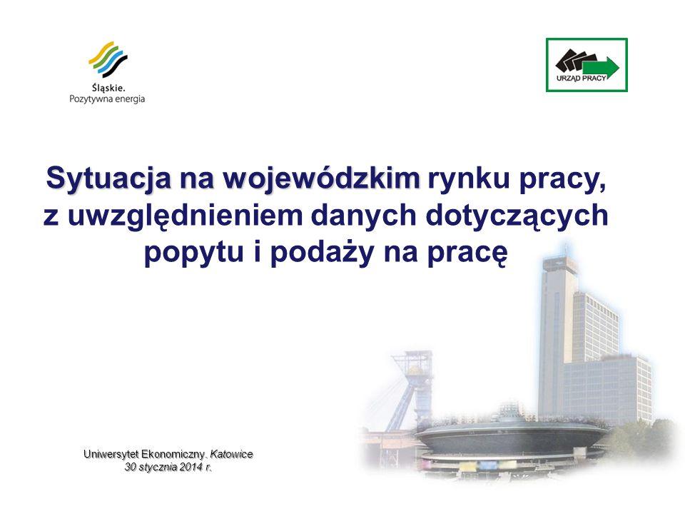 w tys.osób Według stanu na 31.12. 2013 r. w Śląskiem zarejestrowanych było 208 296 osób.