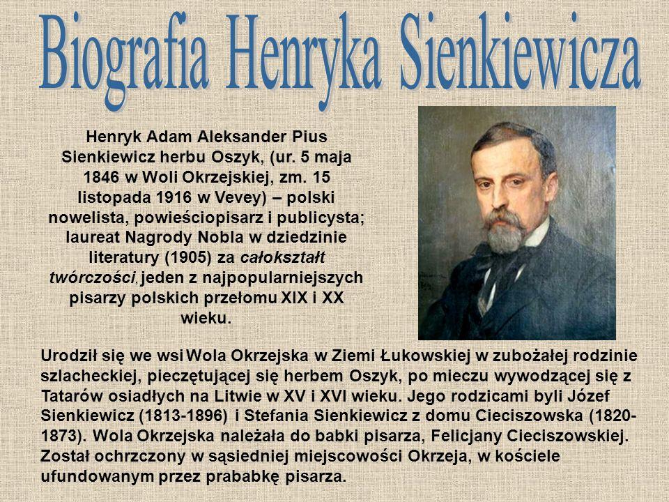 Henryk Adam Aleksander Pius Sienkiewicz herbu Oszyk, (ur.