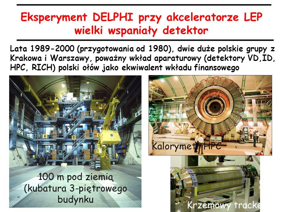 A.Zalewska, 8.4.2010 Eksperyment DELPHI przy akceleratorze LEP wielki wspaniały detektor Lata 1989-2000 (przygotowania od 1980), dwie duże polskie gru