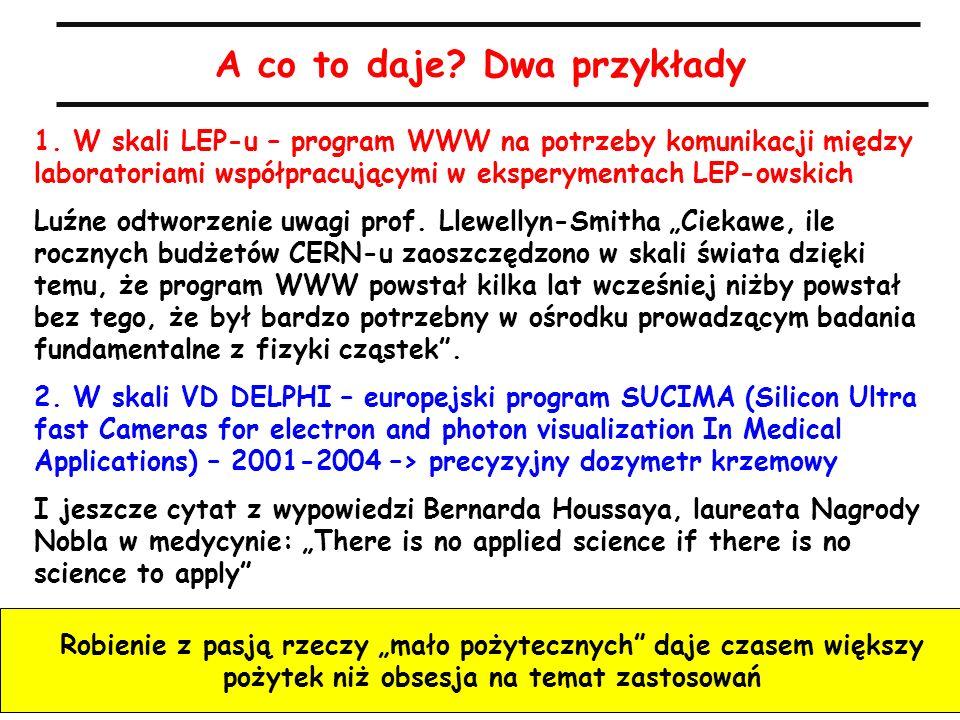A.Zalewska, 8.4.2010 A co to daje? Dwa przykłady 1. W skali LEP-u – program WWW na potrzeby komunikacji między laboratoriami współpracującymi w eksper