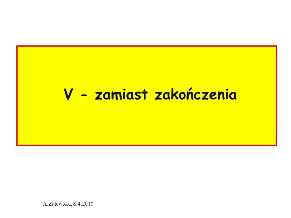 A.Zalewska, 8.4.2010 V - zamiast zakończenia
