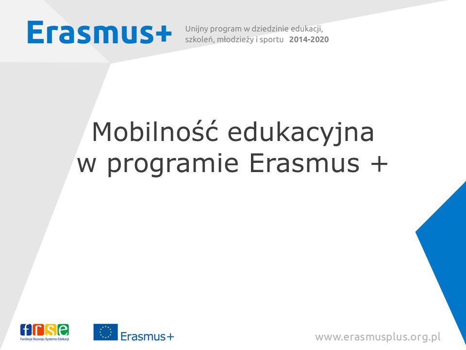 Mobilność edukacyjna w programie Erasmus + Dorota Rytwińska, Zespół Erasmus+: Szkolnictwo wyższe