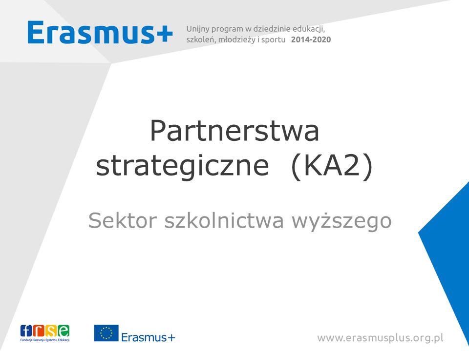 Partnerstwa strategiczne (KA2) Sektor szkolnictwa wyższego