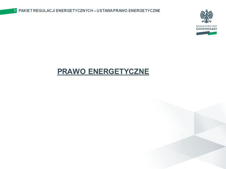 PAKIET REGULACJI ENERGETYCZNYCH – USTAWA PRAWO ENERGETYCZNE 3 PRAWO ENERGETYCZNE