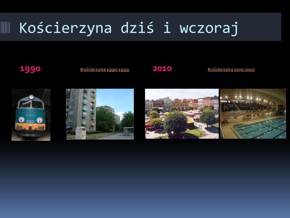 Kościerzyna dziś i wczoraj 1990 Kościerzyna 1990-1999 Kościerzyna 1990-1999 2010 Kościerzyna 2000-2010Kościerzyna 2000-2010