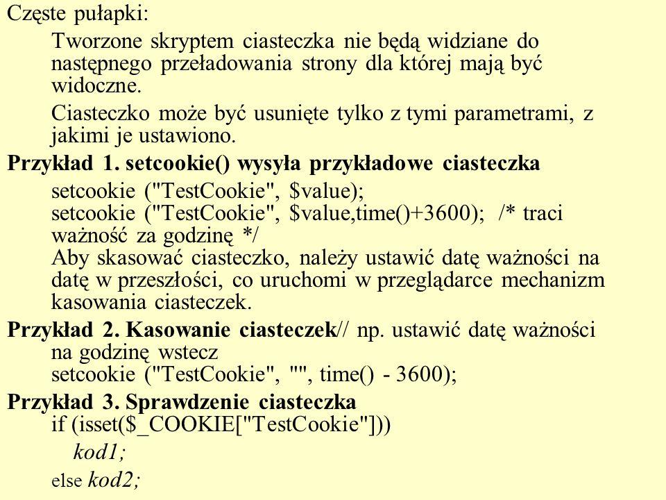 <?php chmod( ./obrazki ,0777); //Powstaje tablica _FILES echo FILES: .$_FILES[ obrazek ][ tmp_name ]. ; if (isset($_FILES[ obrazek ])) { if ($error == UPLOAD_ERR_OK) { $tmp_name = $_FILES[ obrazek ][ tmp_name ]; $name = $_FILES[ obrazek ][ name ]; if (is_uploaded_file($tmp_name)) { move_uploaded_file($tmp_name, ./obrazki/ .$name); $komunikat = Plik dodany ; echo $komunikat; } Plik dodaj.php