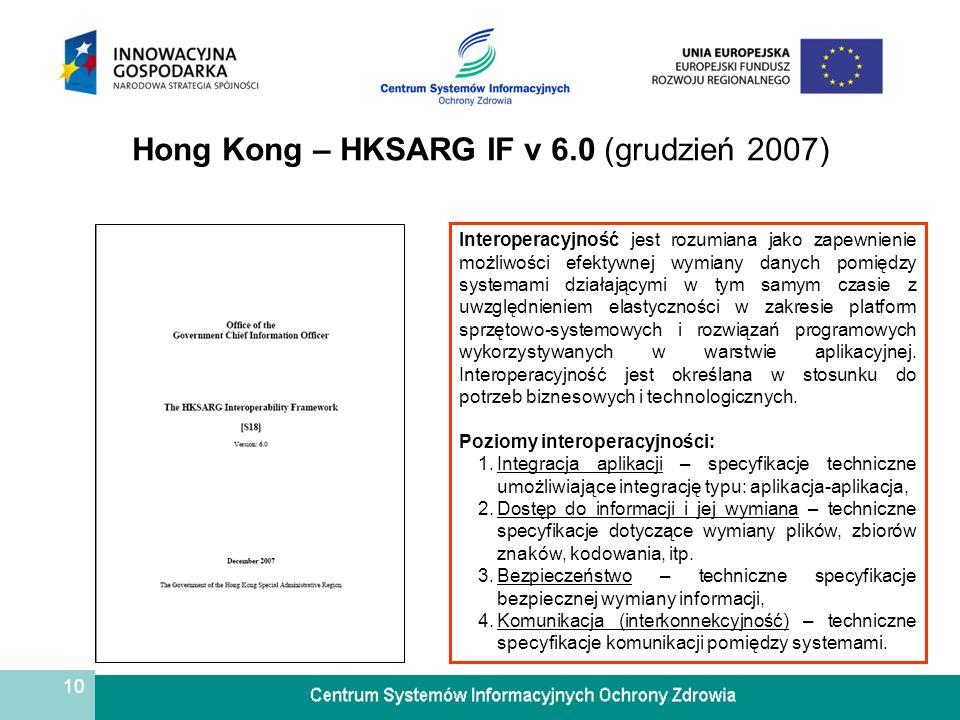 11 Niemcy – Standards and Architectures for e-Government Applications (grudzień 2003) Interoperacyjność jest rozumiana jako zapewnienie trwałych przepływów informacyjnych pomiędzy obywatelami, rządem federalnym i ich partnerami.