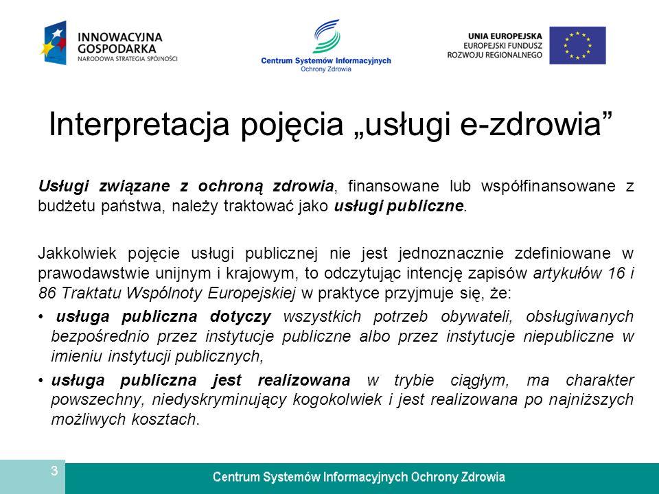 4 Interpretacja pojęcia usługi e-zdrowia Konstytucja Rzeczypospolitej Polskiej w art.