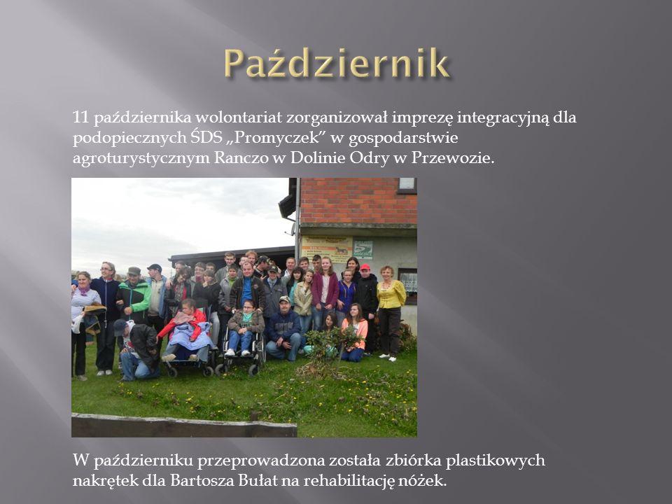 11 października wolontariat zorganizował imprezę integracyjną dla podopiecznych ŚDS Promyczek w gospodarstwie agroturystycznym Ranczo w Dolinie Odry w