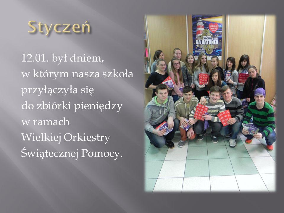 12.01. był dniem, w którym nasza szkoła przyłączyła się do zbiórki pieniędzy w ramach Wielkiej Orkiestry Świątecznej Pomocy.