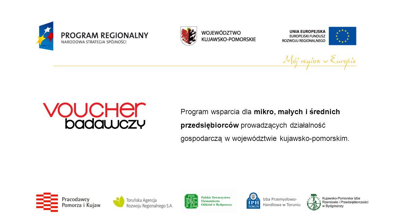 Voucher badawczy kooperacyjny Wysokość wsparcia na Voucher badawczy kooperacyjny wynosi do 400 tys.