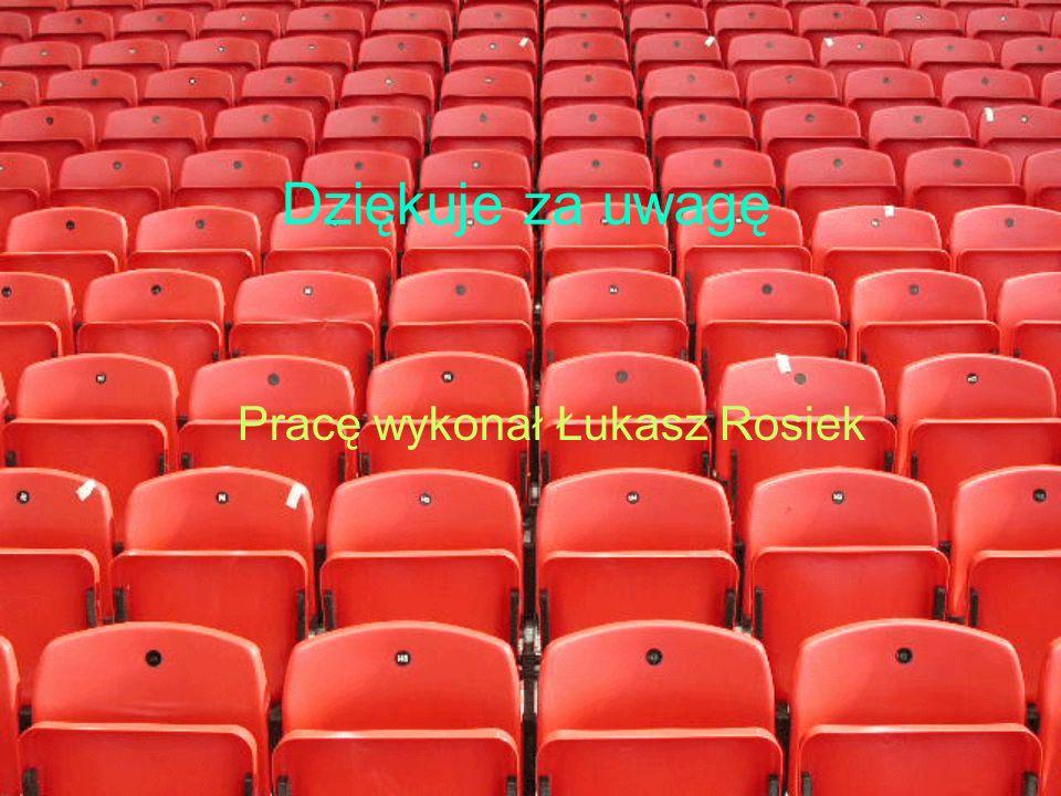 Dziękuje za uwagę Pracę wykonał Łukasz Rosiek