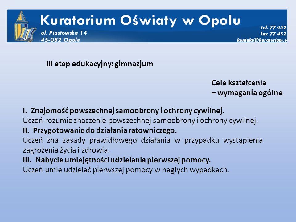 I.Znajomość struktury obronności państwa.