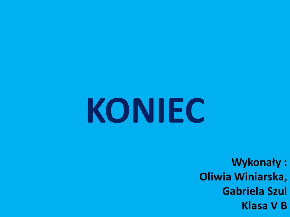 KONIEC Wykonały : Oliwia Winiarska, Gabriela Szul Klasa V B