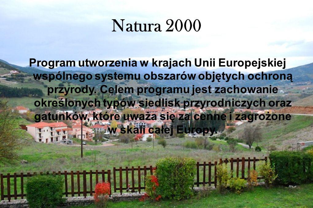 Natura 2000 Program utworzenia w krajach Unii Europejskiej wspólnego systemu obszarów objętych ochroną przyrody. Celem programu jest zachowanie określ