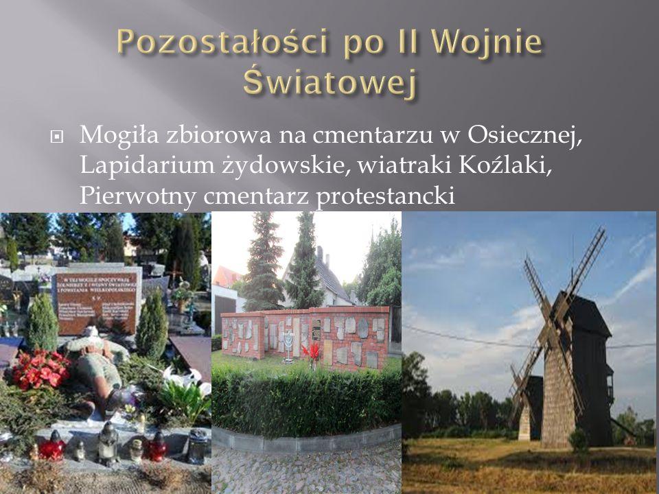 Mogiła zbiorowa na cmentarzu w Osiecznej, Lapidarium żydowskie, wiatraki Koźlaki, Pierwotny cmentarz protestancki