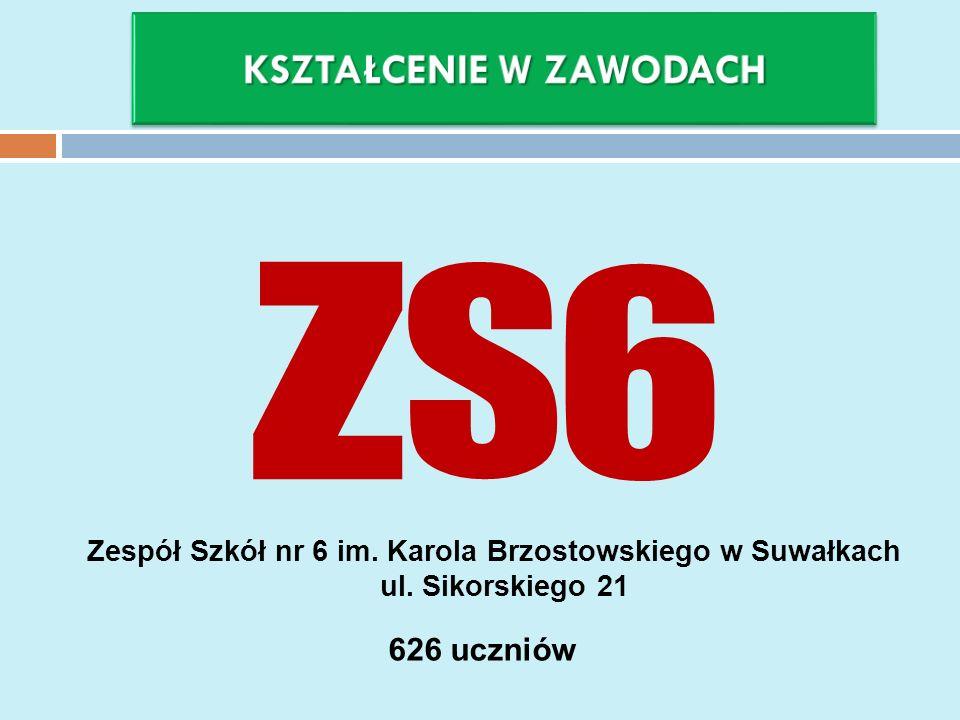 Zespół Szkół nr 6 im. Karola Brzostowskiego w Suwałkach ul. Sikorskiego 21 626 uczniów