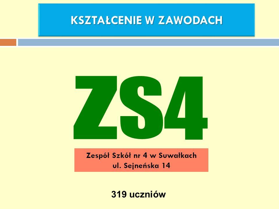 Zespół Szkół nr 4 w Suwałkach ul. Sejneńska 14 319 uczniów