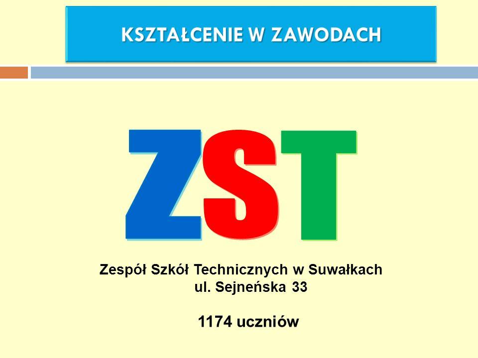 Zespół Szkół Technicznych w Suwałkach ul. Sejneńska 33 1174 uczniów