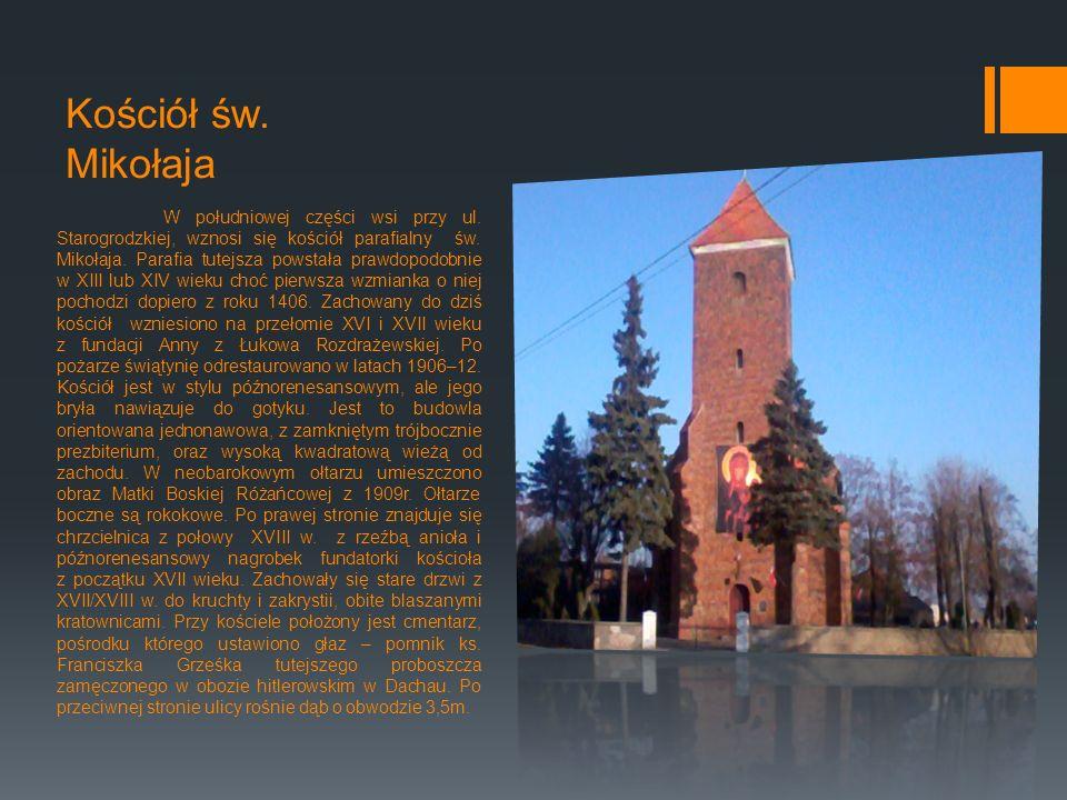 Kościół św.Mikołaja W południowej części wsi przy ul.