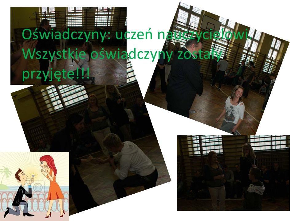 Oświadczyny: uczeń nauczycielowi. Wszystkie oświadczyny zostały przyjęte!!!