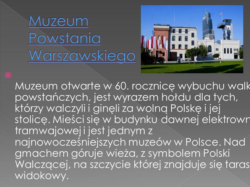 Muzeum otwarte w 60. rocznicę wybuchu walk powstańczych, jest wyrazem hołdu dla tych, którzy walczyli i ginęli za wolną Polskę i jej stolicę. Mieści s