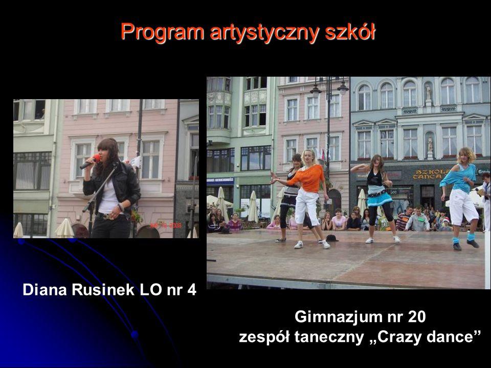 Program artystyczny szkół Diana Rusinek LO nr 4 Gimnazjum nr 20 zespół taneczny Crazy dance