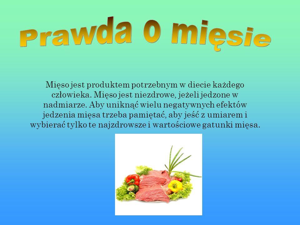 Mięso jest produktem potrzebnym w diecie każdego człowieka.