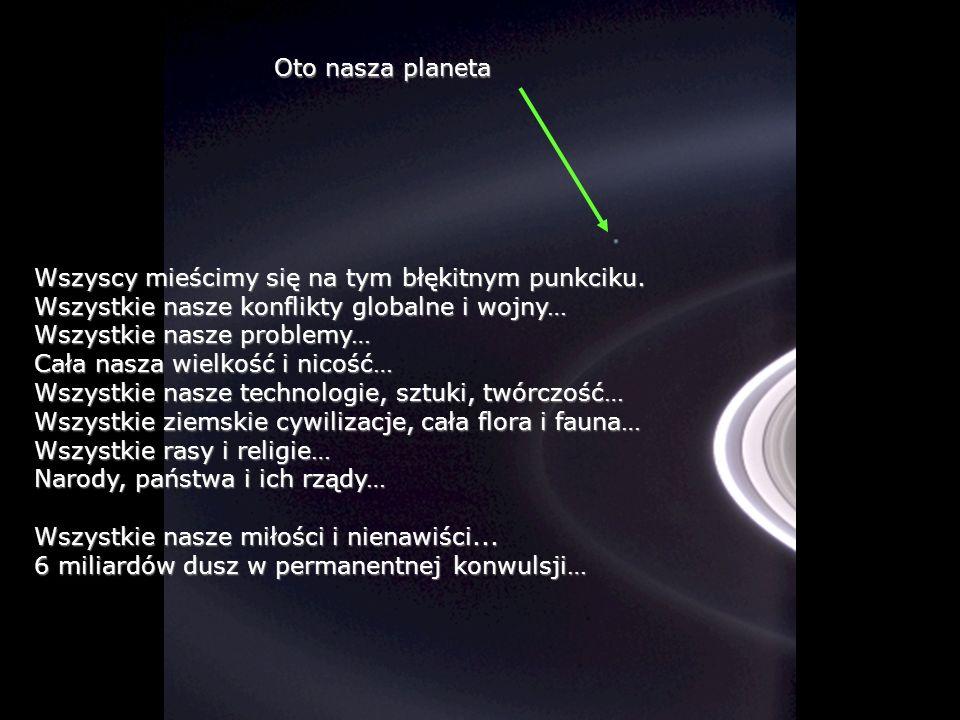 Héla aquí, pues: Spójrzmy na tę fotografię. Została wykonana przez sondę Cassini-Huygens, gdy zbliżyła się do pierścieni Saturna.