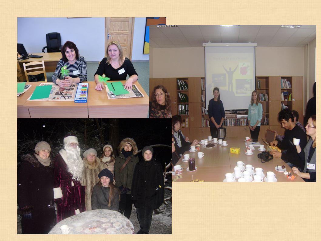 Grupa odwiedziła centrum młodzieżowe, szkołę plastyczną, miejską wieżę i ośrodek rozwoju edukacji, odbyła wycieczkę do parku narodowego Tervete i słynącego z bałwanów miasta Dobele, zwiedziła piekarnie i zamek Rundale.