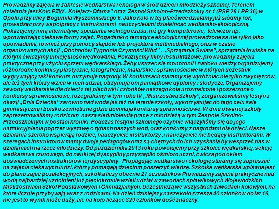 WOJEWÓDZKIE MISTRZOSTWA SZKÓŁ PODSTAWOWYCH I GIMNAZJALNYCH Drużyna PSP 28 na Wojewódzkich Mistrzostwach Szkół Podstawowych i Gimnazjalnych w składzie: 1.
