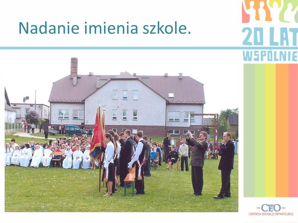 17maja 2007 roku obchodziliśmy jeden z najważniejszych dni naszej szkoły. Na mocy Uchwały Rady Gminy w Tomaszowie Lubelskim otrzymaliśmy imię patrona