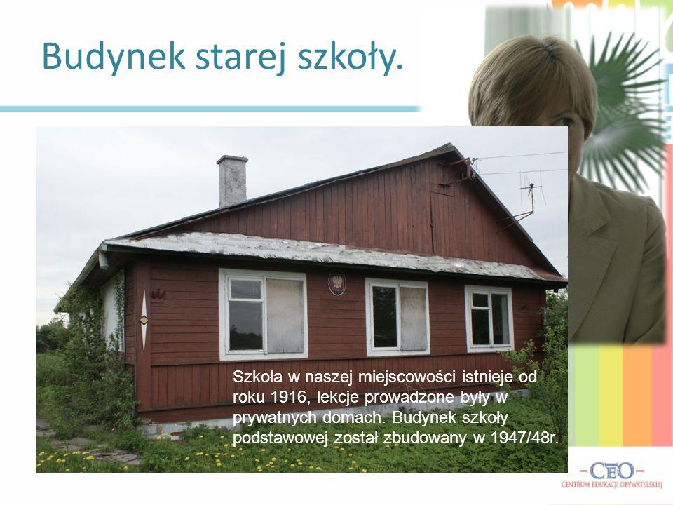 Budynek starej szkoły. Wywiad z Panią Dyrektor Beatą Gromek-Dzida: Jak wyglądała dawna szkoła? Jakie były jej warunki? (…)tamten stary budynek miał dw