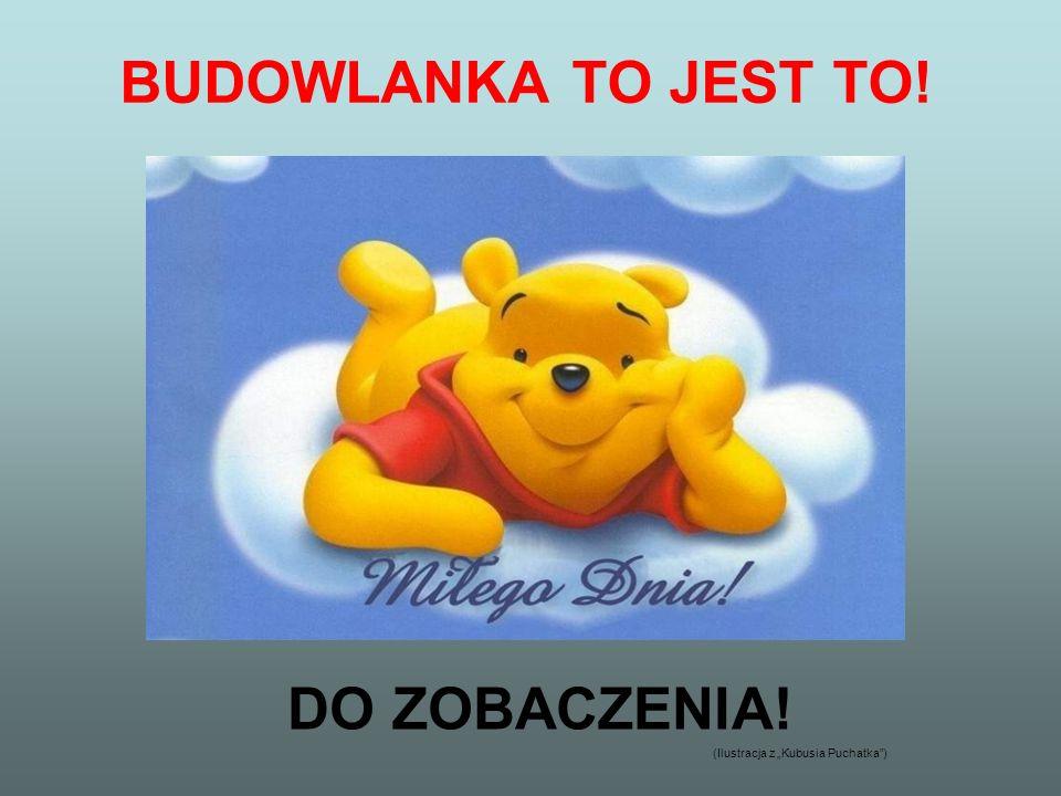 BUDOWLANKA TO JEST TO! DO ZOBACZENIA! (Ilustracja z Kubusia Puchatka)