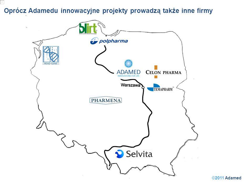 ©2011 Adamed Oprócz Adamedu innowacyjne projekty prowadzą także inne firmy