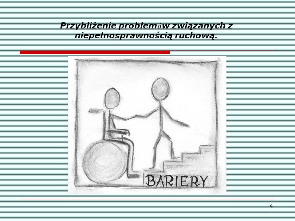 4 Przybliżenie problem ó w związanych z niepełnosprawnością ruchową.