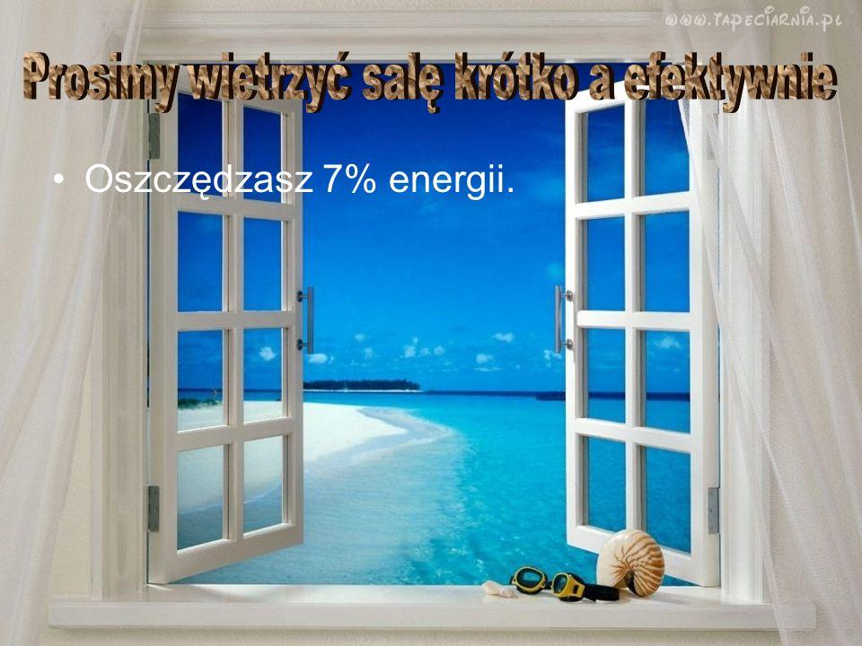 Oszczędzasz 7% energii.